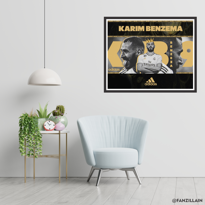 Karim Benzema x Adidas Graphic Wall Art - Real Madrid