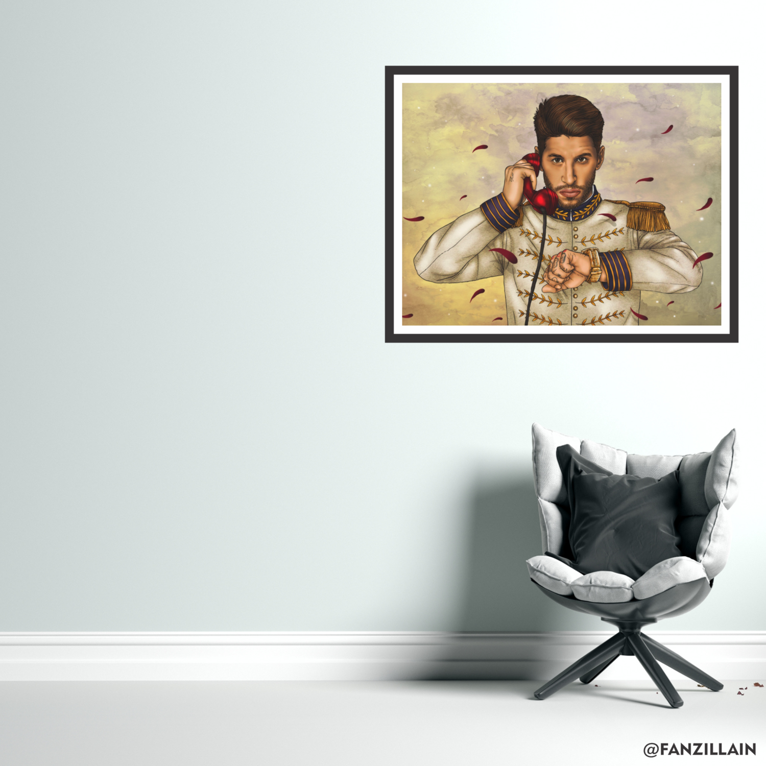 Ramos 'The General' Graphic Wall Art Real Madrid