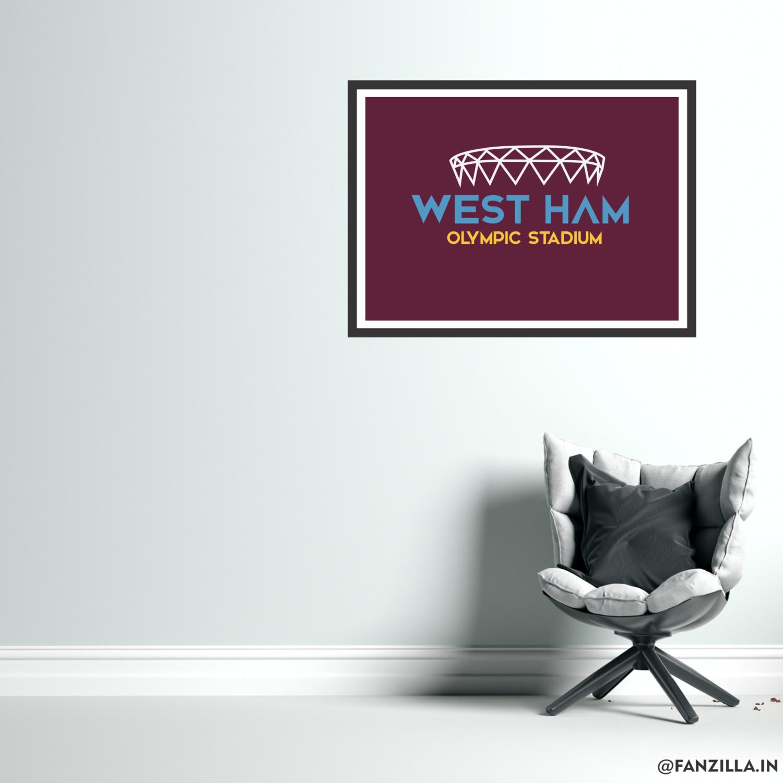 West Ham United - Olympic Stadium Minimalistic Illustration