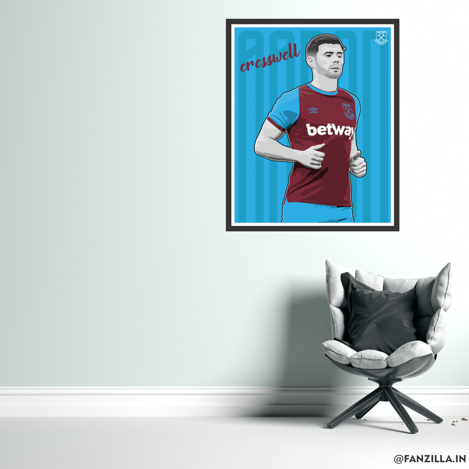 West Ham United - Aaron Cresswell Official Wall-art