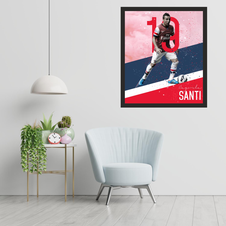 Santi Cazorla Arsenal Graphic Wall Art