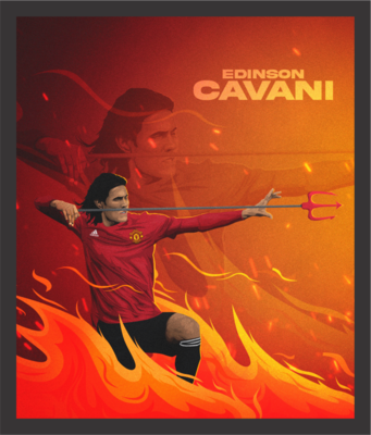 Cavani - 'Fire King' Graphic Wall Art
