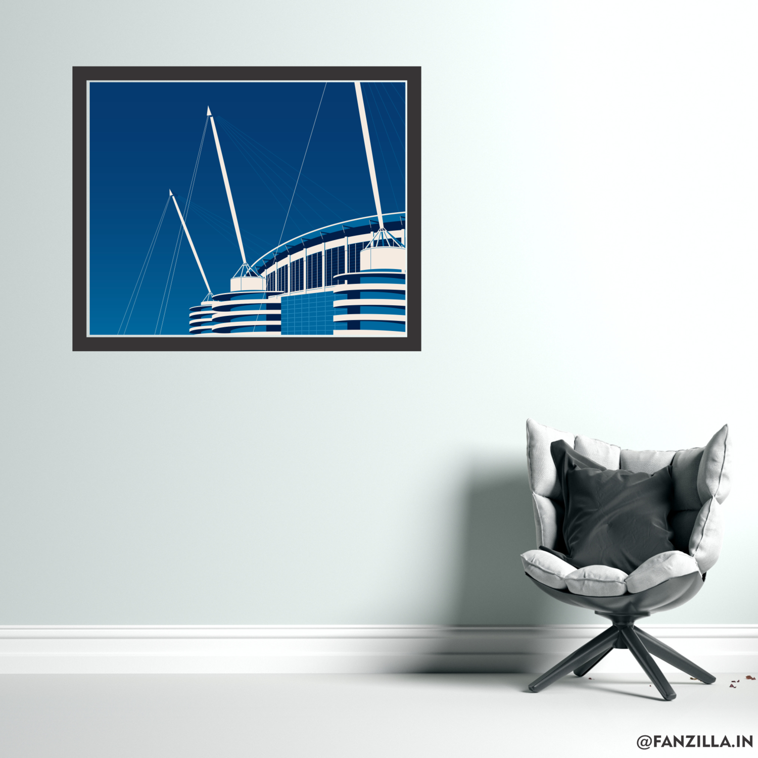 Etihad - Home of Manchester City - Graphic Wall Art