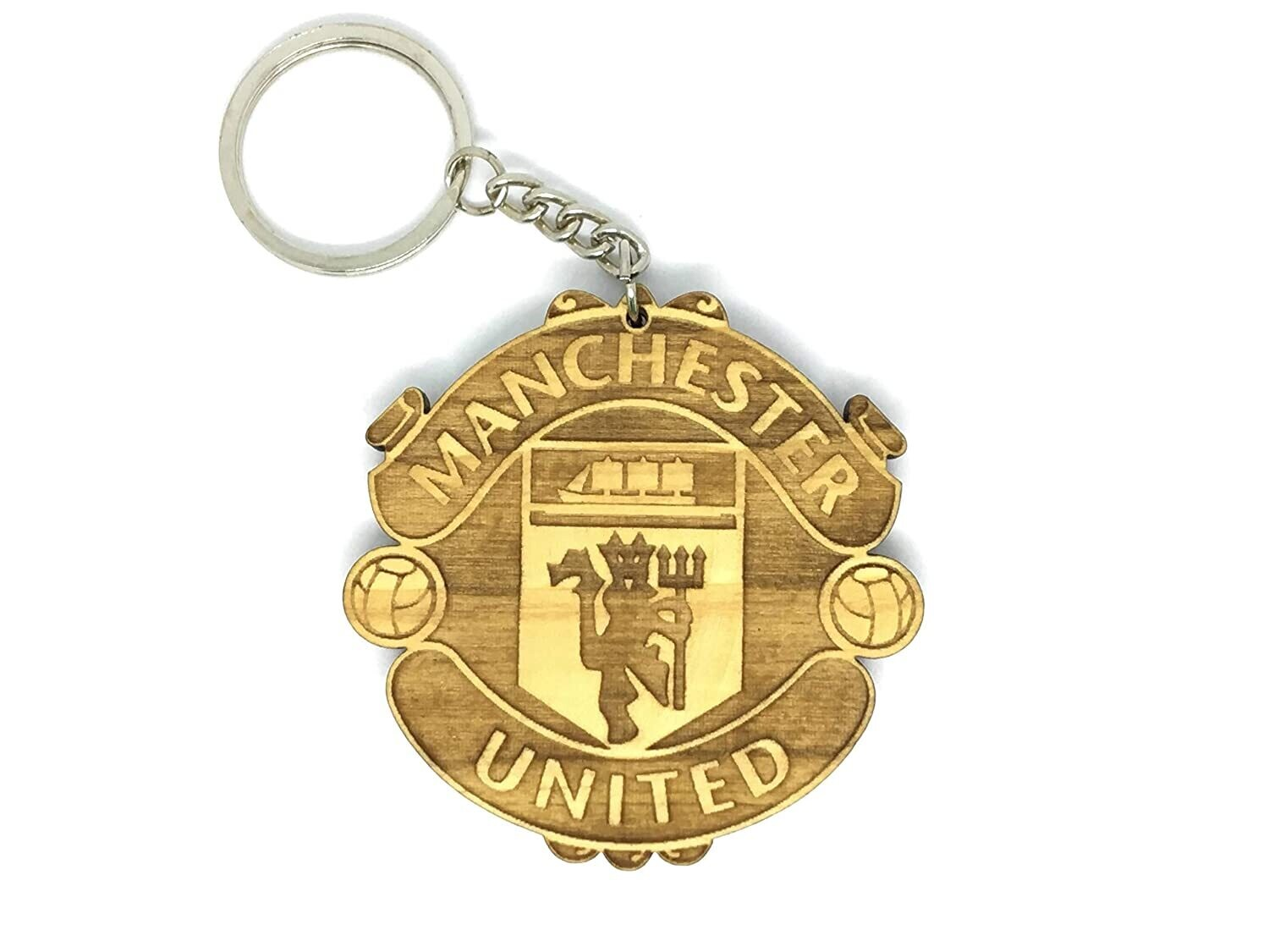 Manchester United - Solid Wooden Key Chain
