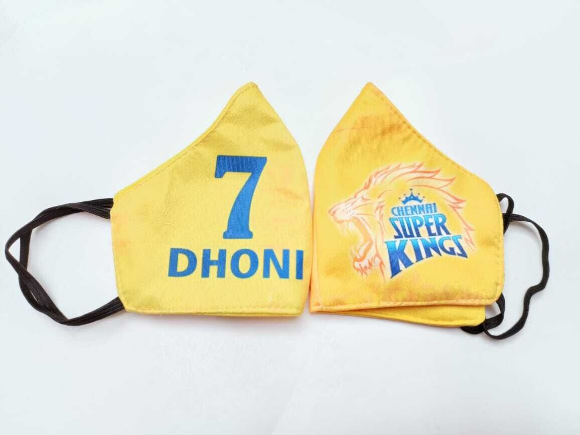 Chennai Super Kings - Dhoni 7 (Pack of 2)