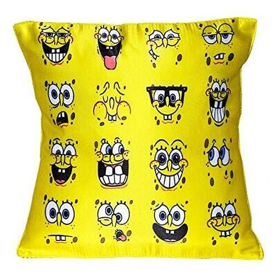 Sponge Bob Faces Graphic Cushion Cover