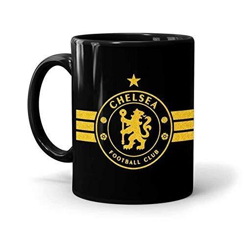 Chelsea Football Club Black Mug (Microwave and Dishwasher Safe)