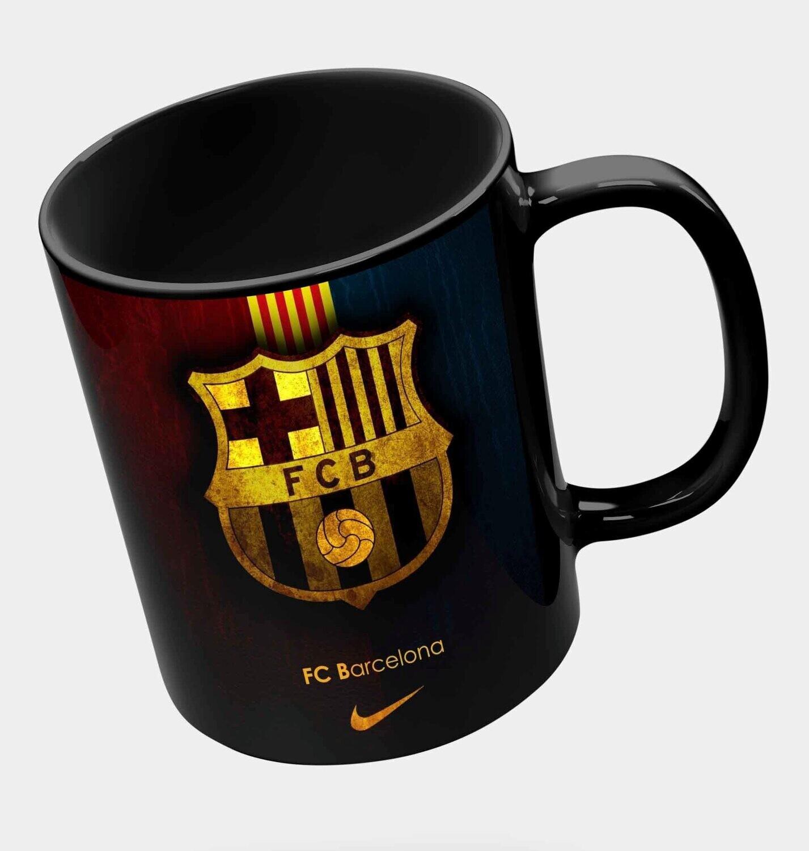 Barcelona Black Mug (Microwave and Dishwasher Safe)