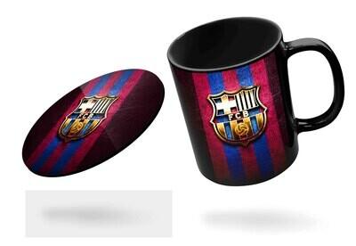 Barcelona 18-19 Black Mug  (Microwave and Dishwasher Safe)