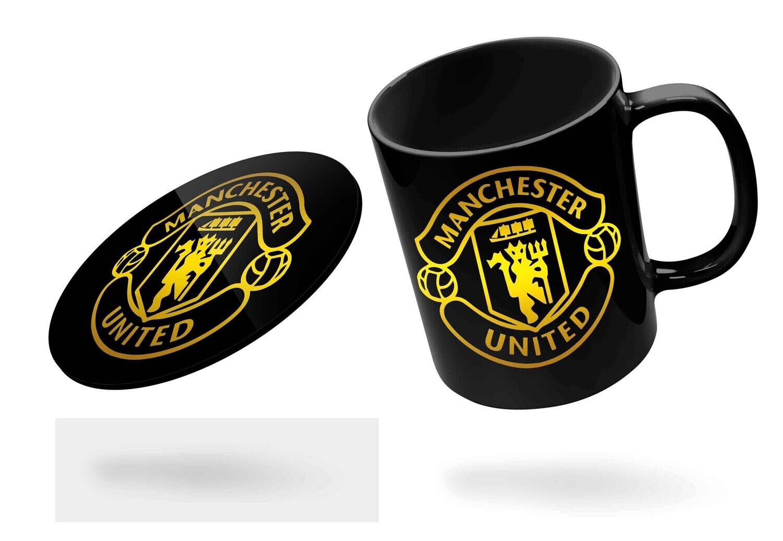 Man United Black Mug (Microwave and Dishwasher Safe)