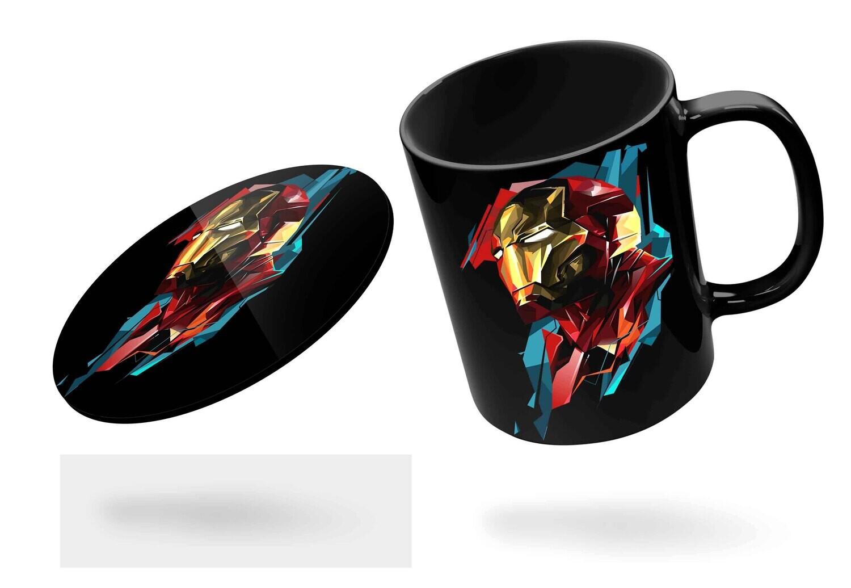 Iron Man Black Mug  (Microwave and Dishwasher Safe)