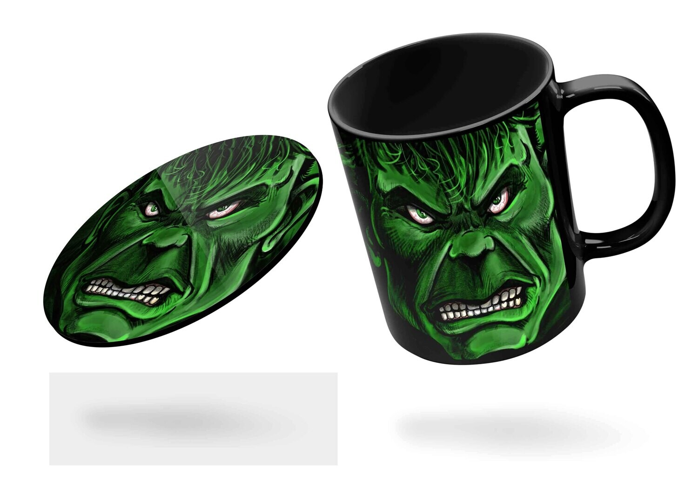Hulk Black Mug  (Microwave and Dishwasher Safe)