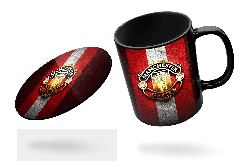 Manchester United Black/Red Mug  (Microwave and Dishwasher Safe)