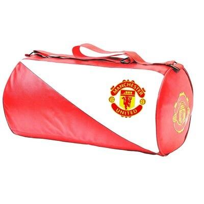 Manchester United Leatherette Duffel Gym Bag