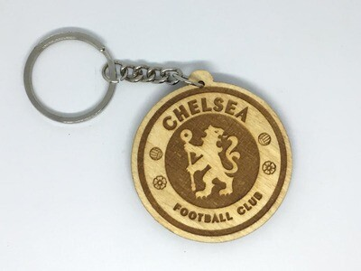 Chelsea FC - Solid Wooden Key Chain