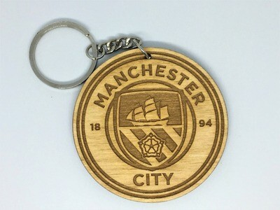 Manchester City FC - Solid Wooden Key Chain