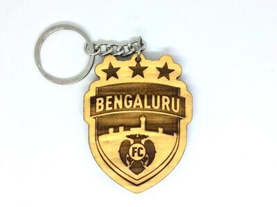 Bengaluru FC - Solid Wooden Key Chain