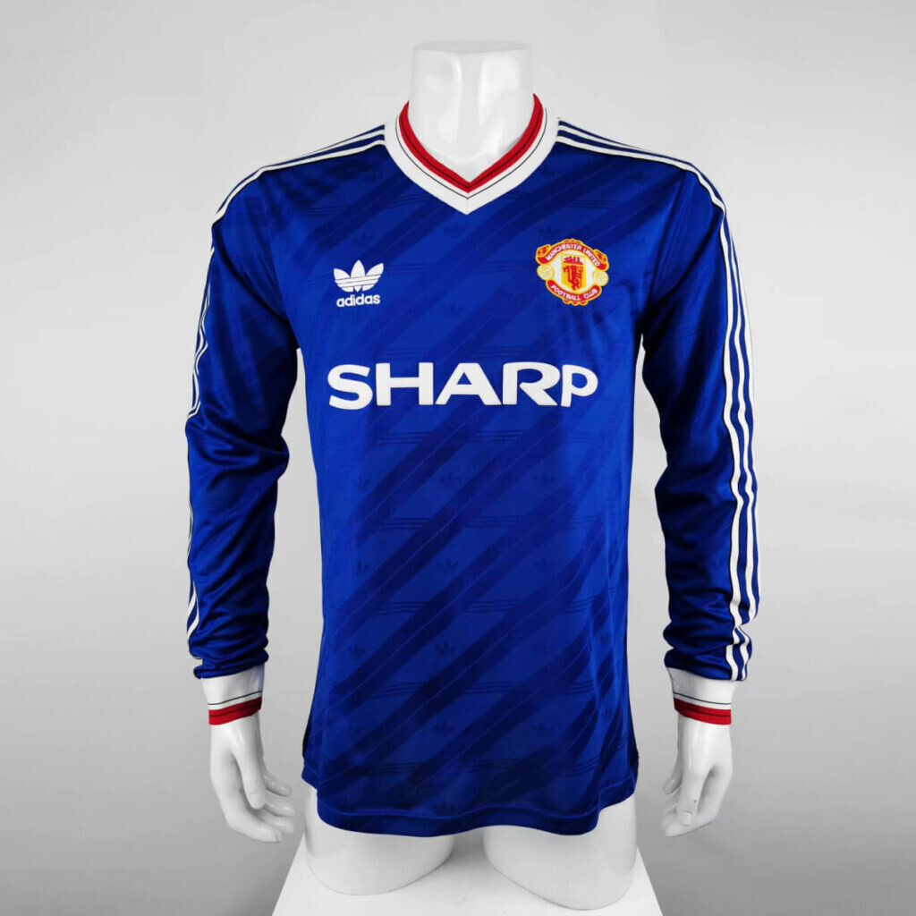 Manchester United Away 1986-88 Retro Full Sleeves Jersey