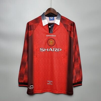 Manchester United Home 1996 Retro Full Sleeves Jersey