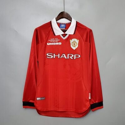Manchester United Home 1998-99 Retro Full Sleeves Jersey UCL