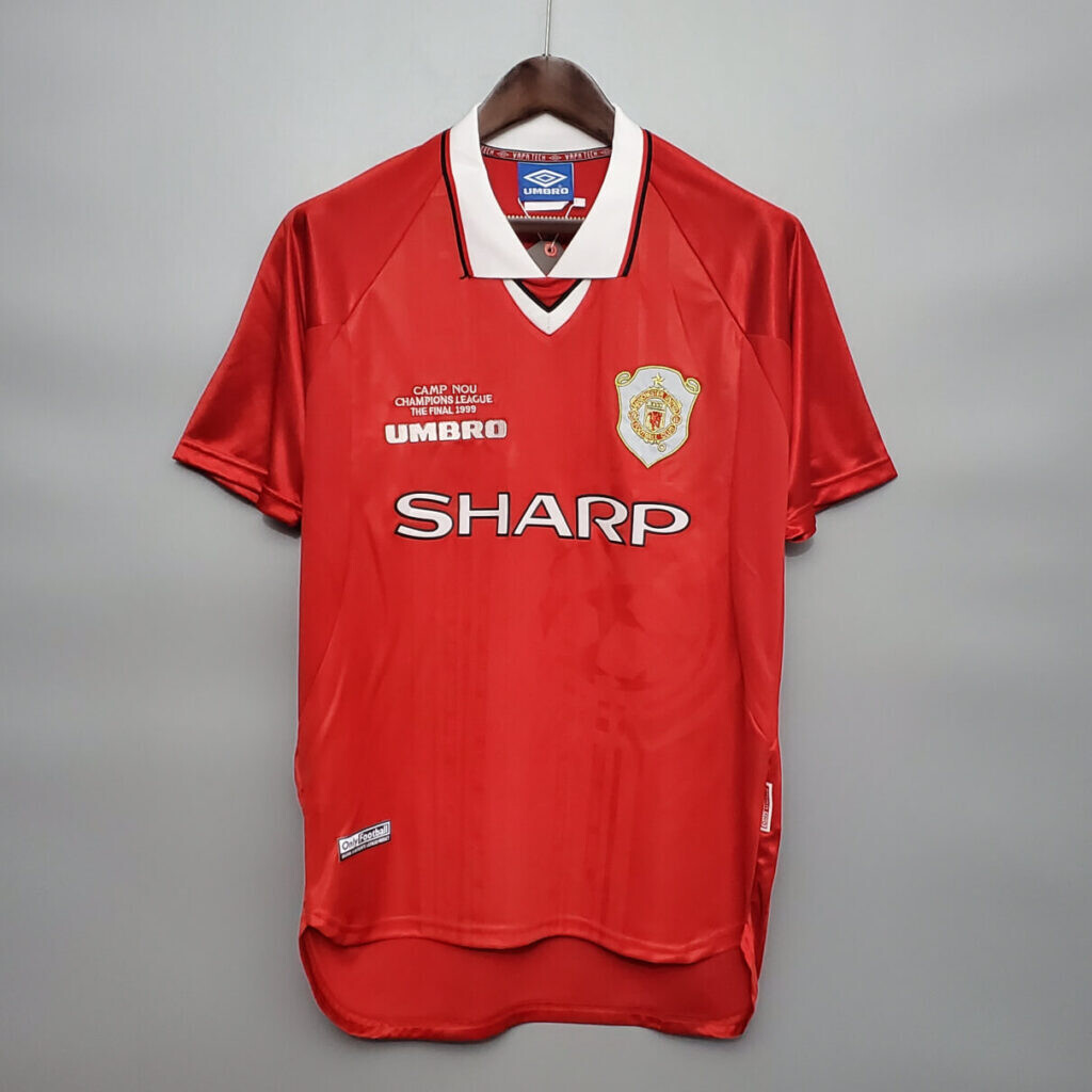 Manchester United Home 1998-99 Retro Short Sleeves Jersey UCL