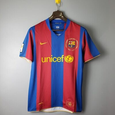 Barcelona 2007 Retro Home Camp Nou Edition Jersey [Pre-paid Only]