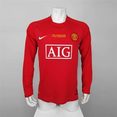 Manchester United 2008 Final Home Jersey Full Sleeves