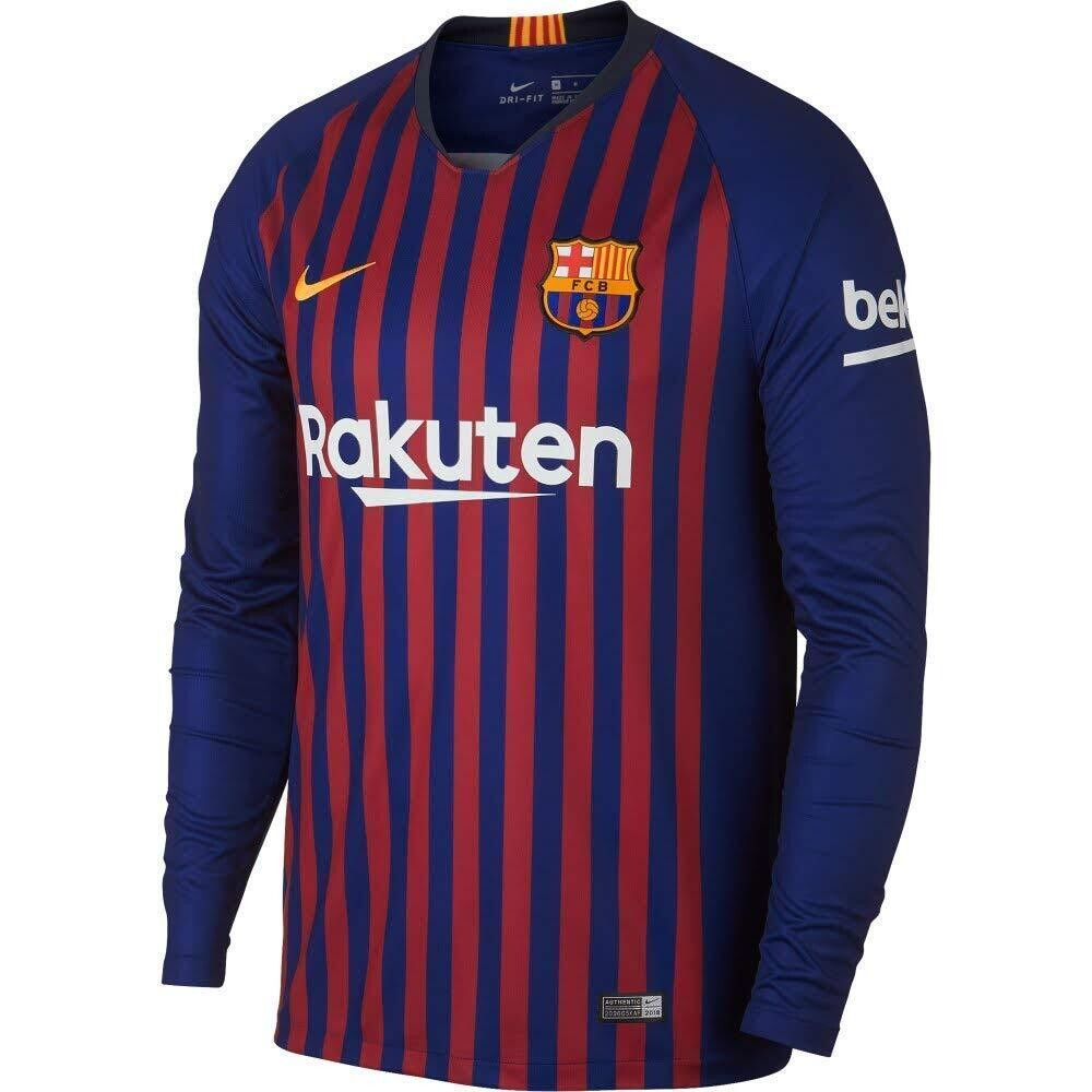 FC Barcelona 2018-19 Home Jersey Full Sleeves