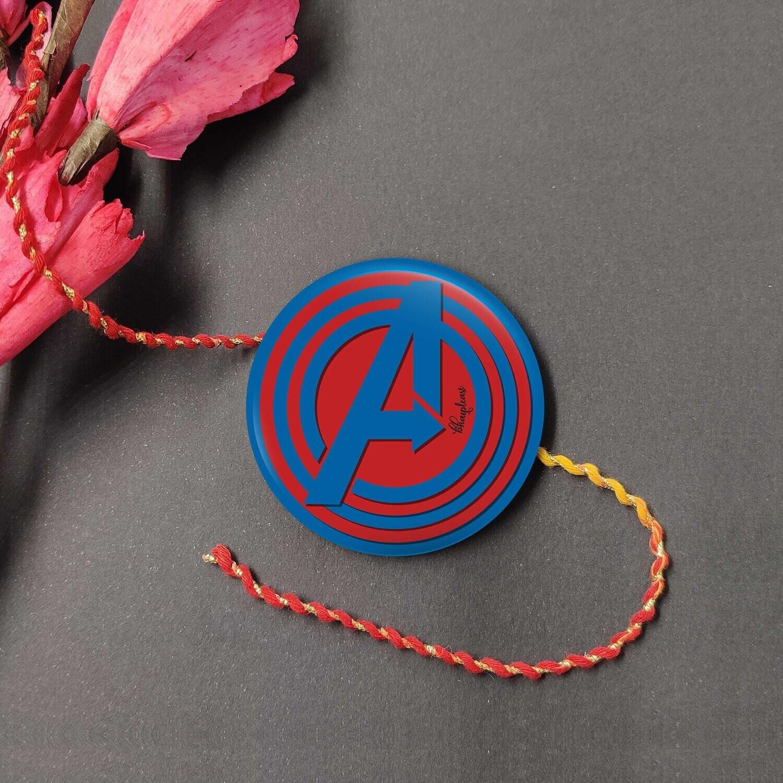 Avengers Rakhi with Fridge Magnet
