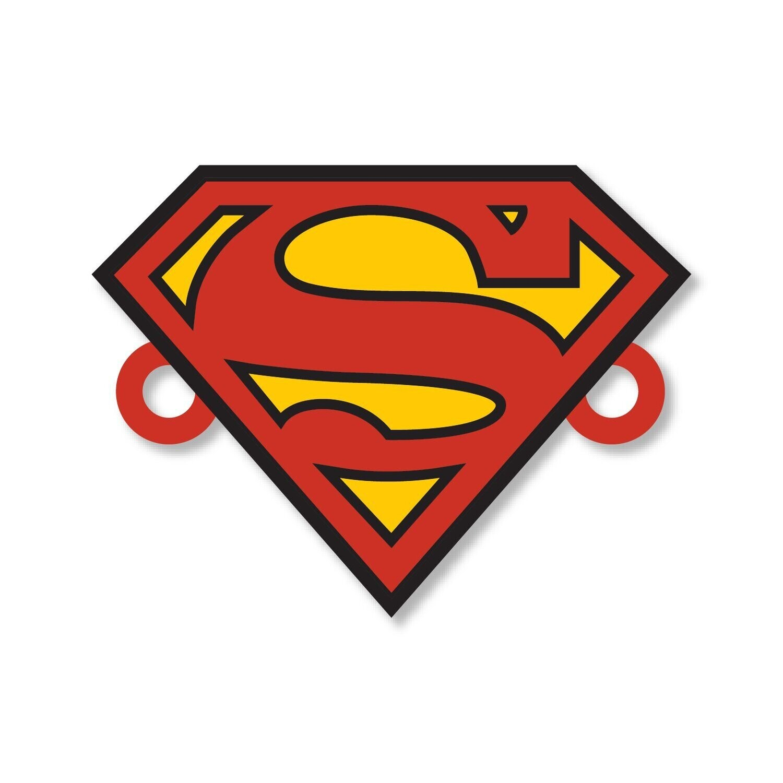Superman Rakhi with Fridge Magnet and Pin