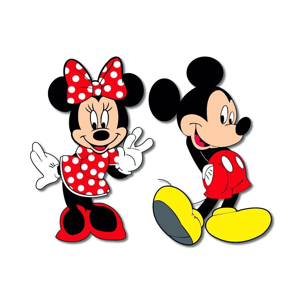 Mickey and Minnie Wooden Fridge Magnet