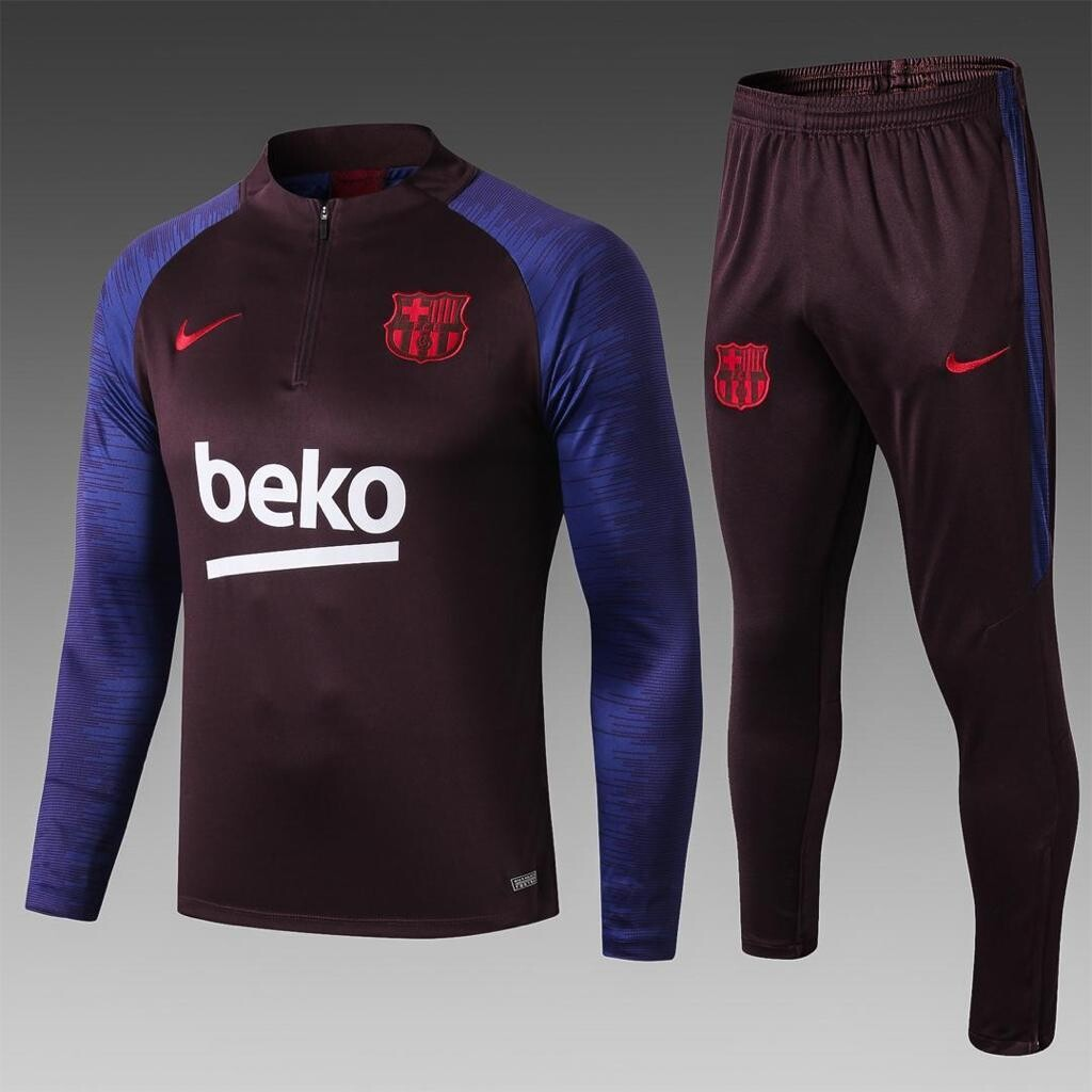 Barcelona Black & Blue Traning Suit