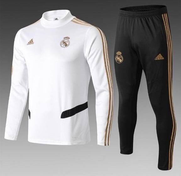 Real Madrid White & Black Training Suit