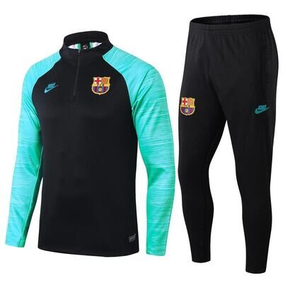 Barelona Green & Black Training Suit