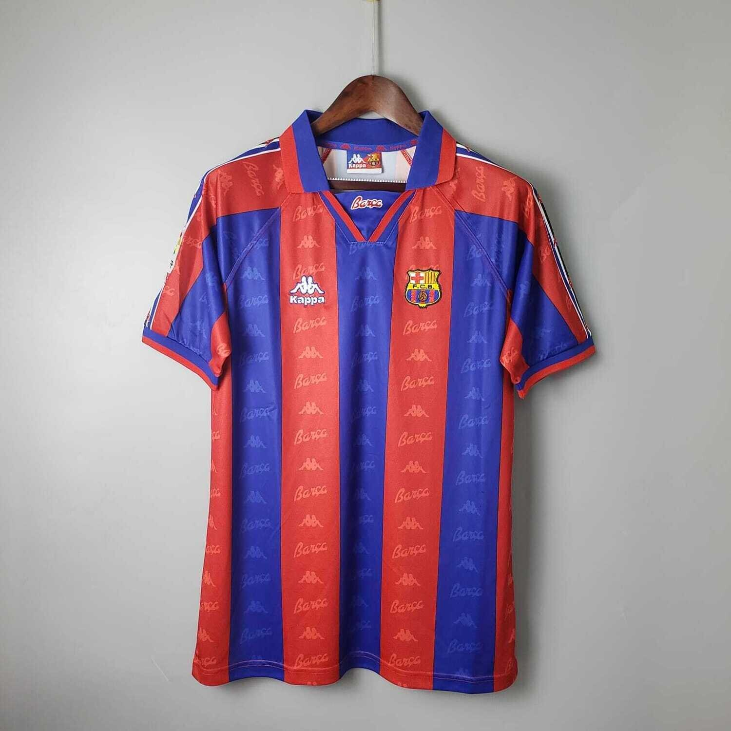 Barcelona 1996-97 Retro Home Jersey [Pre-paid Only]