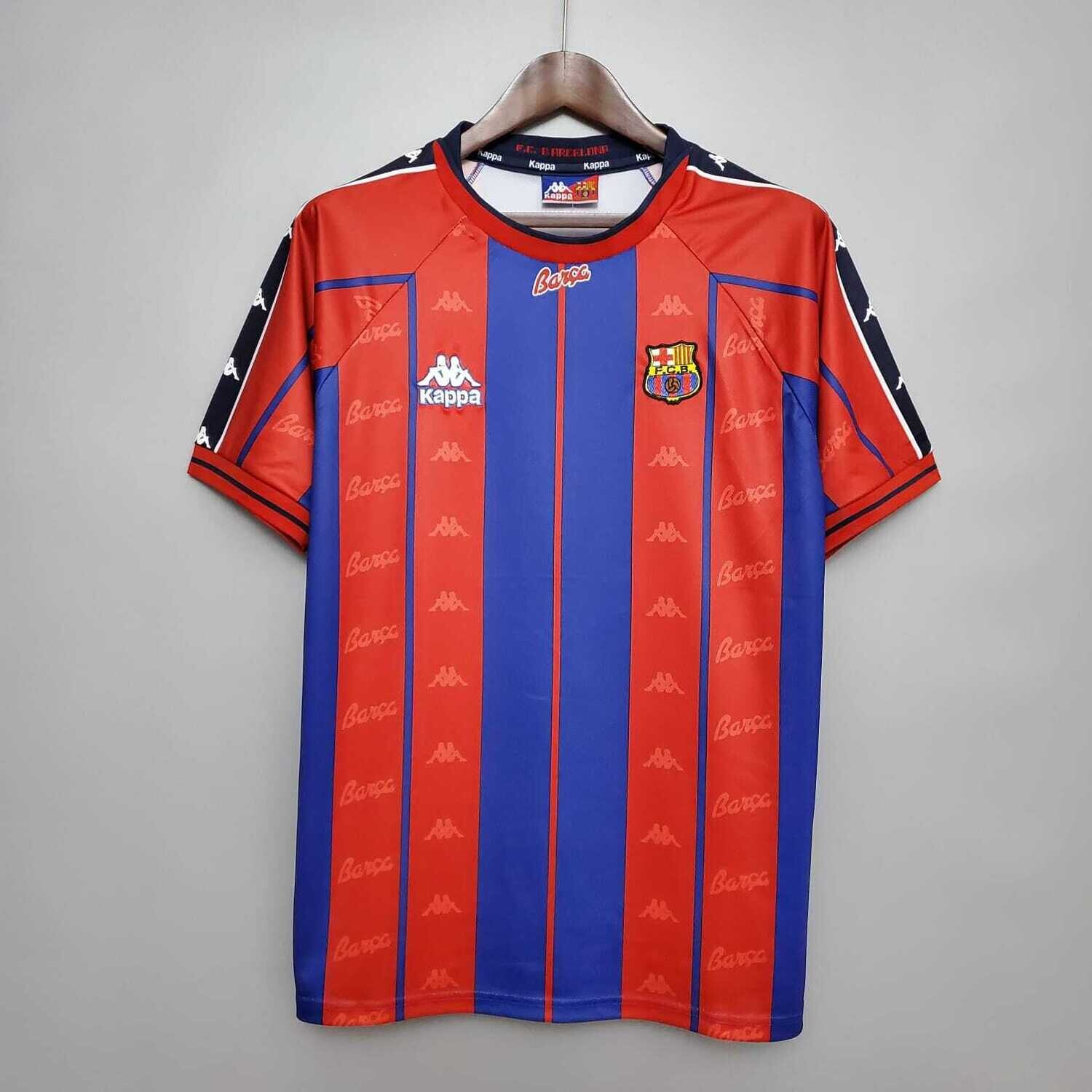 Barcelona 19997-98 Retro Home Jersey [Pre-paid Only]
