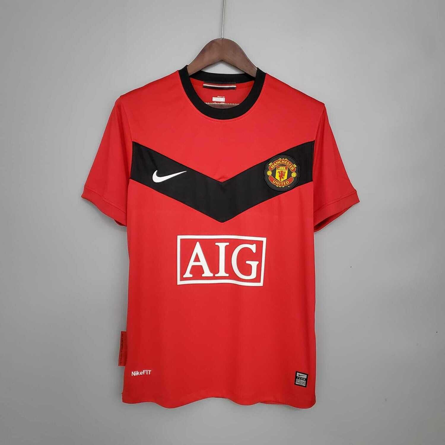 Manchester United 2009-10 Retro Home Jersey [Pre-paid Only]