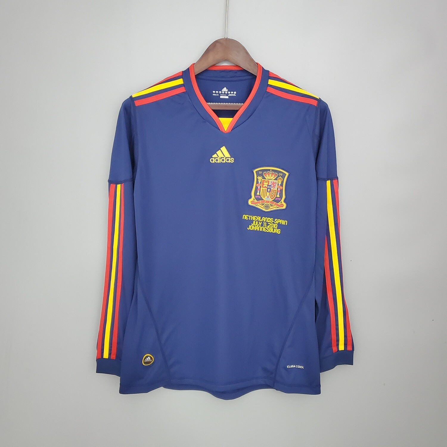 Spain 2010 Retro Away Full Sleeves Jersey [Pre-paid Only]
