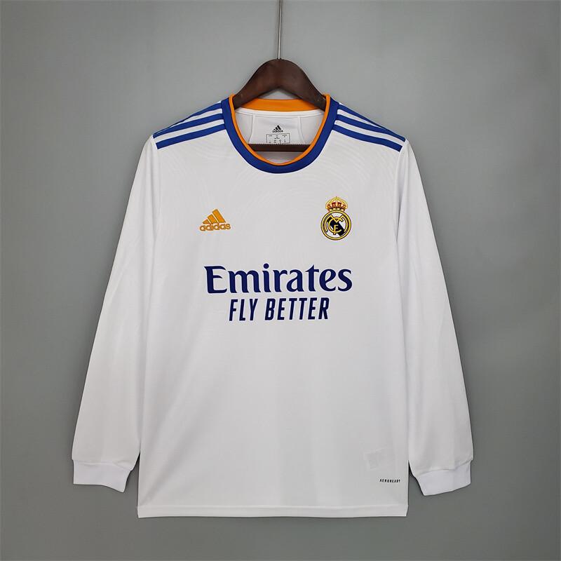 Real Madrid Home 2021-22 Long Sleeves