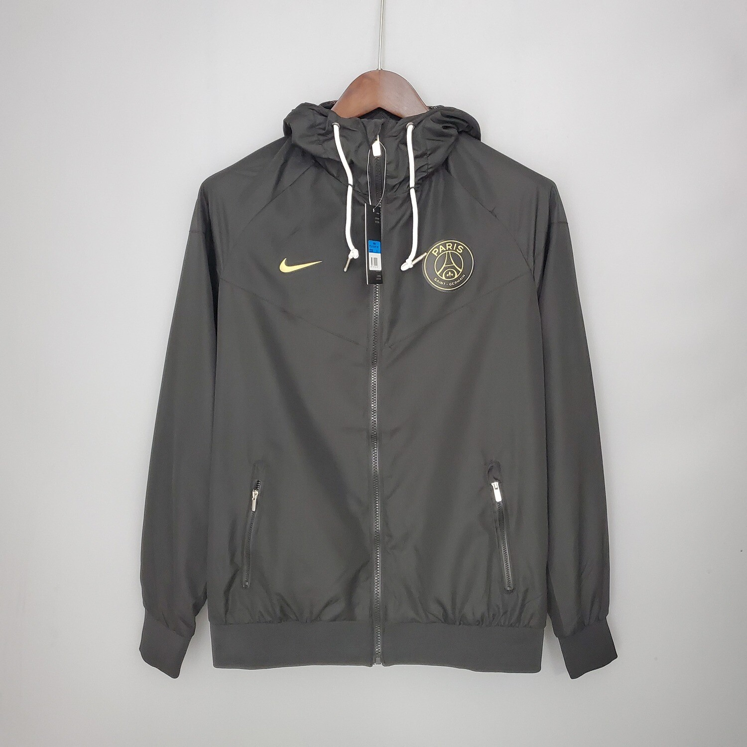 PSG Classic Black Windbreaker 2021-22 [Pre-paid only]