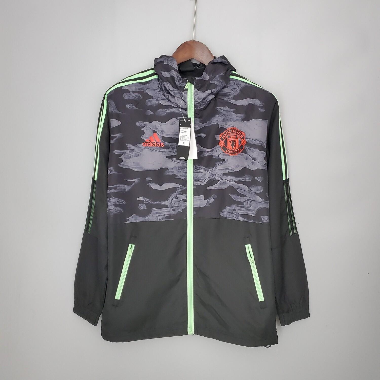 Man United Black Neon Stripes Designer Windbreaker 2021-22 [Pre-paid Only]