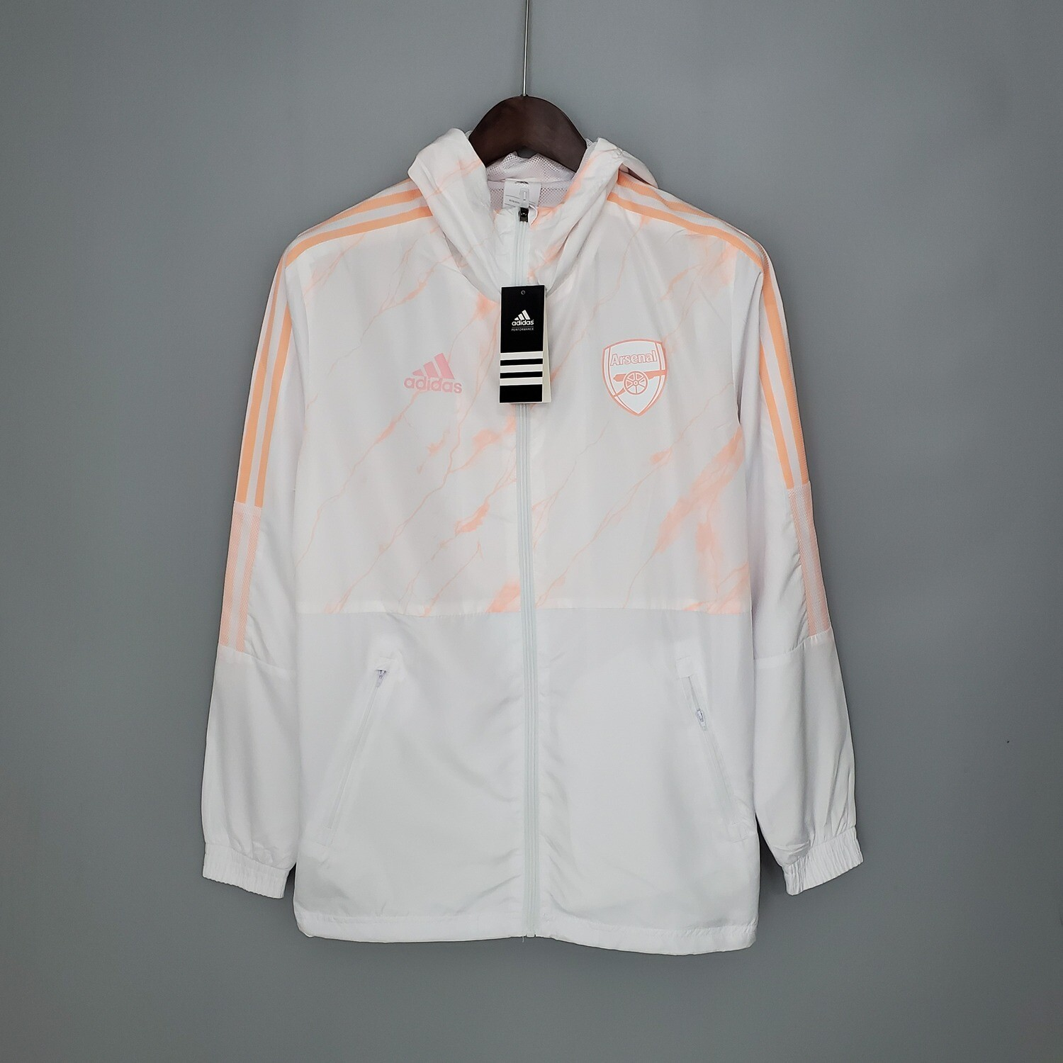 Arsenal White Marble Windbreaker 2021-22 [Pre-paid Only]