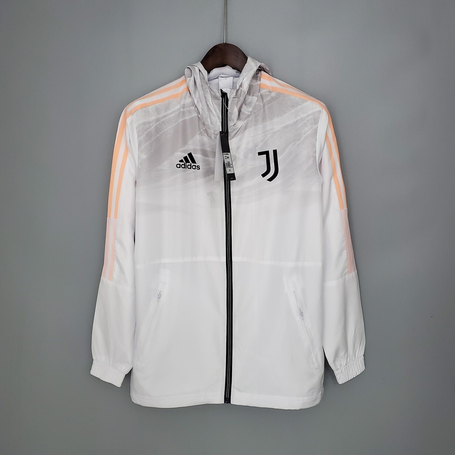 Juventus White Gray Windbreaker 2021-22 [Pre-paid Only]
