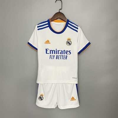 Real Madrid 21-22 Kids Jersey Set