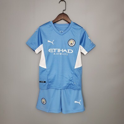 Manchester City 21-22 Kids Jersey Set