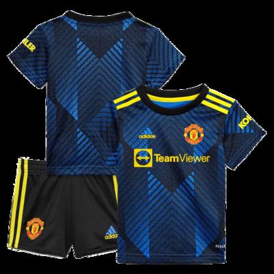 Manchester United Third 21-22 Kids Jersey Set