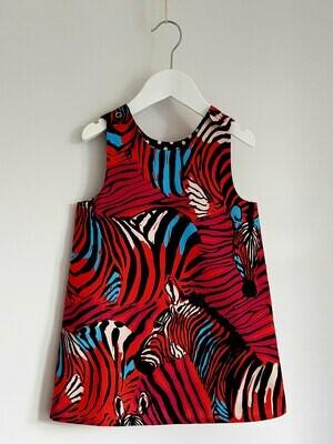 Classic Reversible Minimod Dress - Zebra