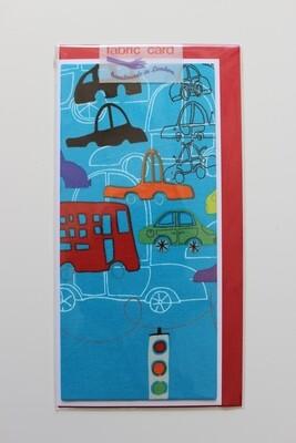 Fabric Card - Teal Automobiles