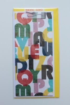 Fabric Card - Alphabet