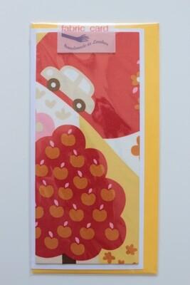Fabric Card - Apple Tree